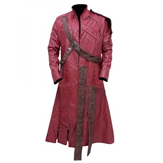 Guardians of the Galaxy Star Lord Leather Trench Coat