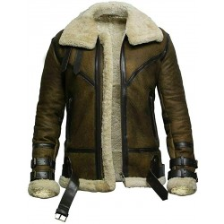 Tom Hardy Shearling Jacket - Brown Dunkirk Leather Jacket