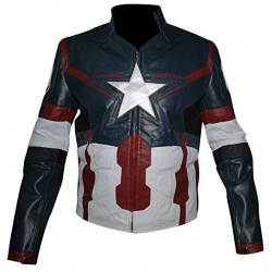 Avengers Age of ultron Chris Evans Captain America Synthetic Jacket
