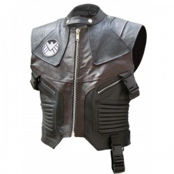 Hawkeye Black & Brown The Avengers Leather Vest